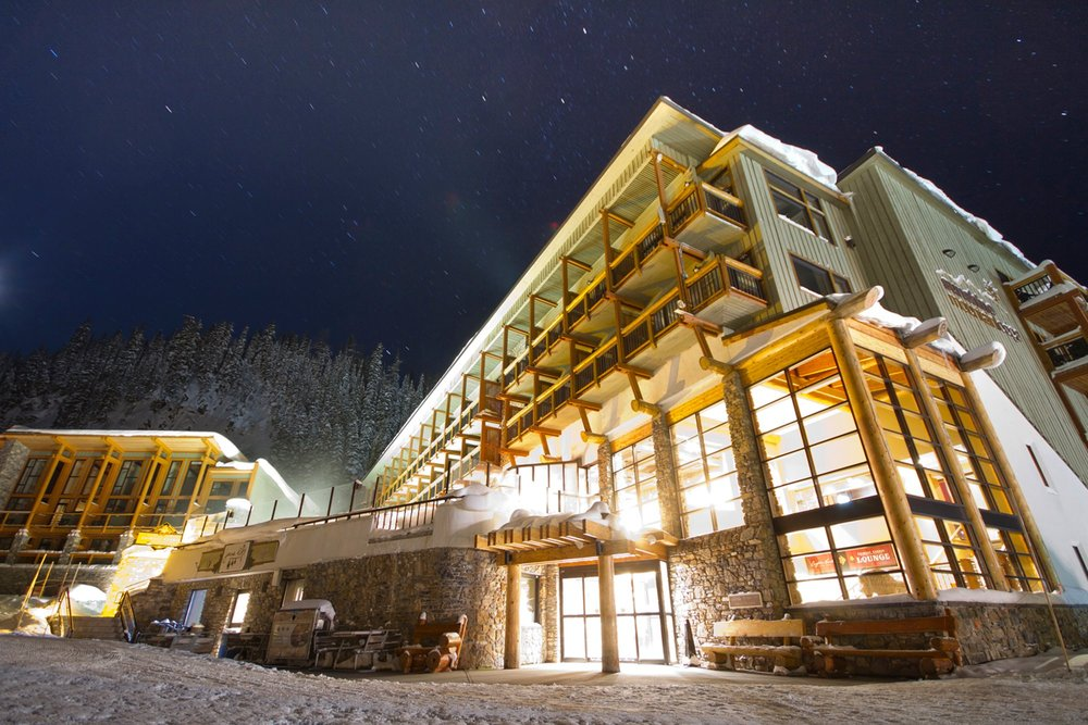 Sunshine Mountain Lodge courtesy of Ski Banff-Lake Louise-Sunshine.