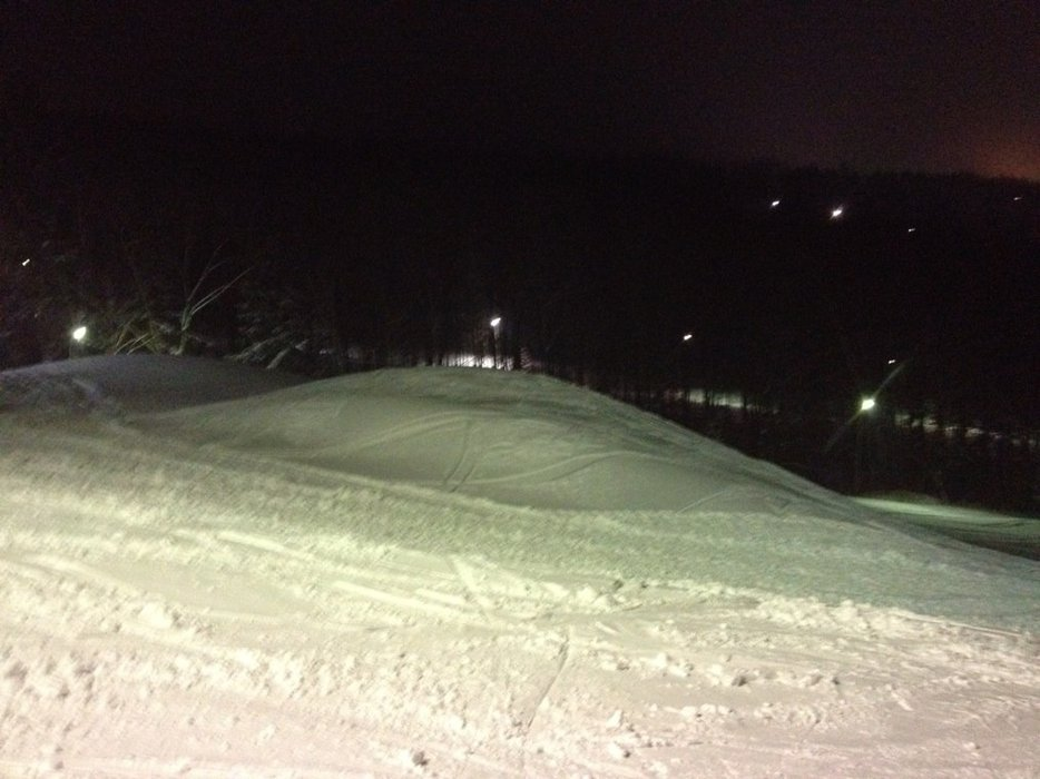upper park opened tonight. one ride-on rail.  middle park looks like it may be super sweet.