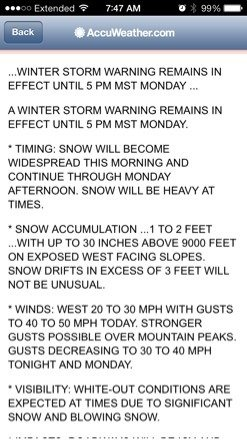 Pow.... Colorado has it!