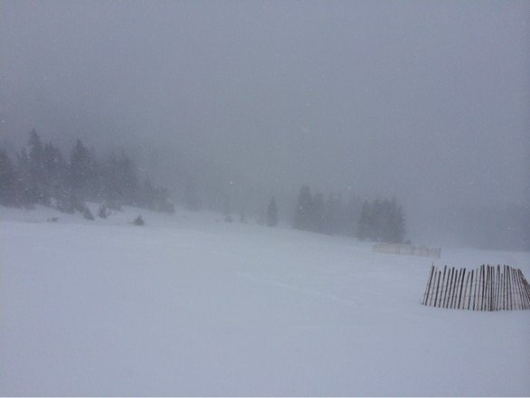Thurs- so much untracked, and such poor visibility