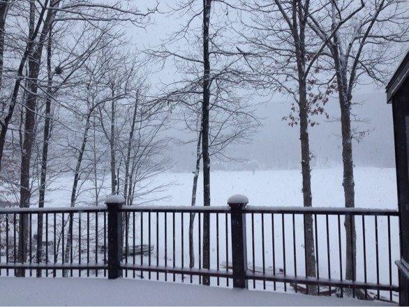 Fresh snow at Eagle Rock,  4