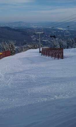 plenty to do here granular snow  very busy mid day