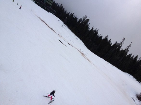 Yuck.... The day @ snoquamlie is terrible, harsh conditions, but no lines because everyone was smart enough to stay @ home!!