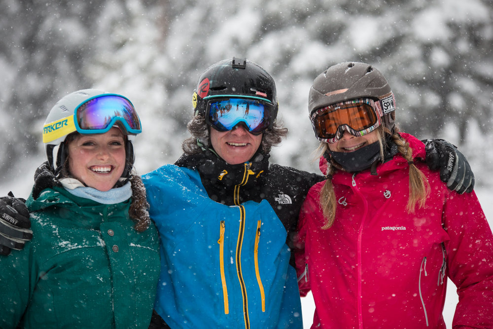 Happy skiers at Lake Louise… how could you not be?  - ©Liam Doran