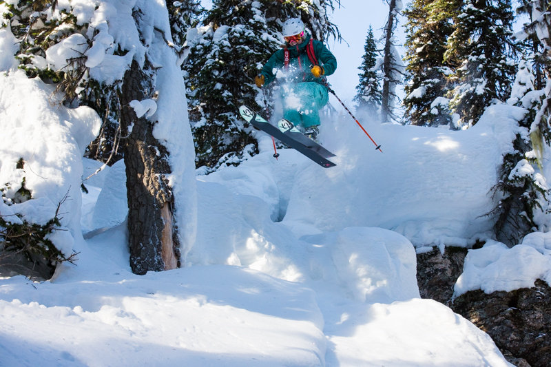 The smile tells the story... nothing but fun at Revelstoke for skier Amie Engerbretson - ©Liam Doran