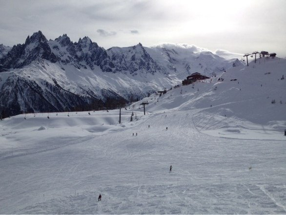Great snow and ski conditions on Feb 6