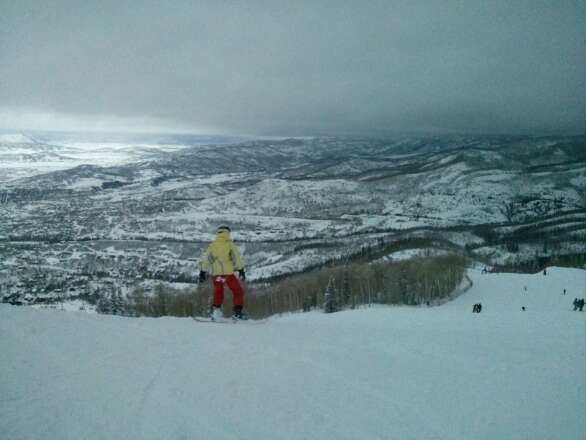 Another epic day at The Boat. Storm Peak was closed by noon - the wind and snow was torrential. Total whiteout.