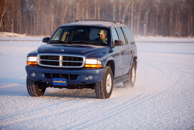 When it comes to winter driving, four new tires trumps two.  - ©Goodyear