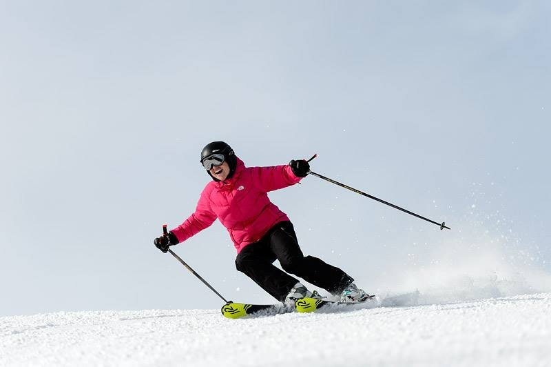 Any day on skis is worth smiling about. - ©Snowshoe