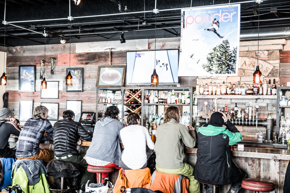 Locals hit the apres ski scene at the Alehouse at the base of Highlands.