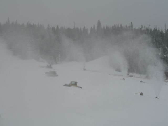 Winter Park early season snow making