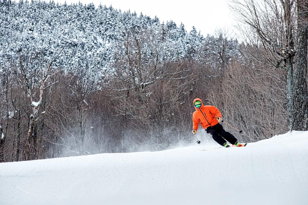 Carter Snow arcing turns at Mad River Glen. - ©Liam Doran