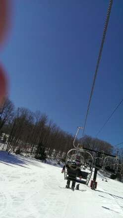 Nice bluebird day Friday. Warm and slow in parts, but overall great day. Bag jump was closed though due to electrical issues :(. I also have one request: please don't go and snowplow through the whole park and get in people's way and chop up jumps and landings. Show respect and get it in return.