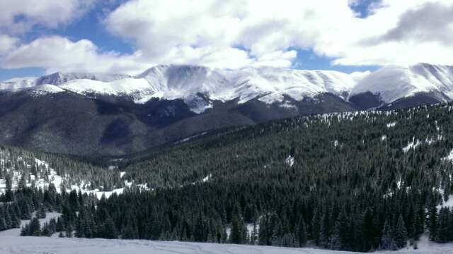 awesome bluebird day! really great snow conditions, over a foot on parsenn bowl
