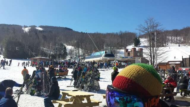 awesome day today but insanely crowded. snow and coverage were great though.