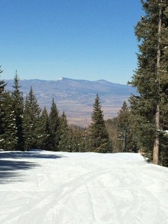 Clear & sunny + fresh pow = gnarly day. 2nd Best Snow in NM!! Keepin it real...