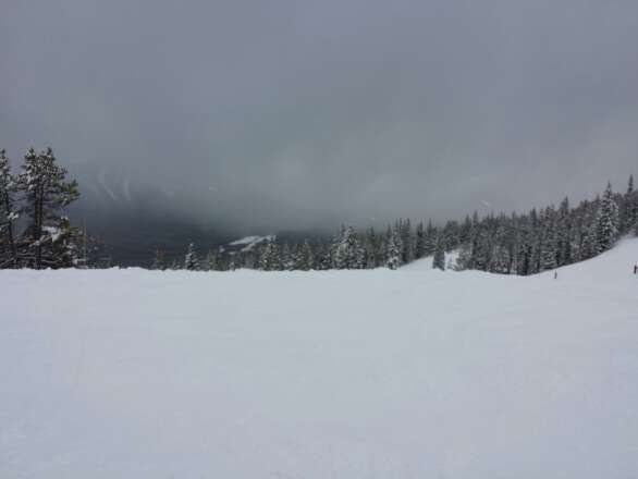 Awesome day at Louise, lots of fresh snow and best of all, not crazy busy as always!