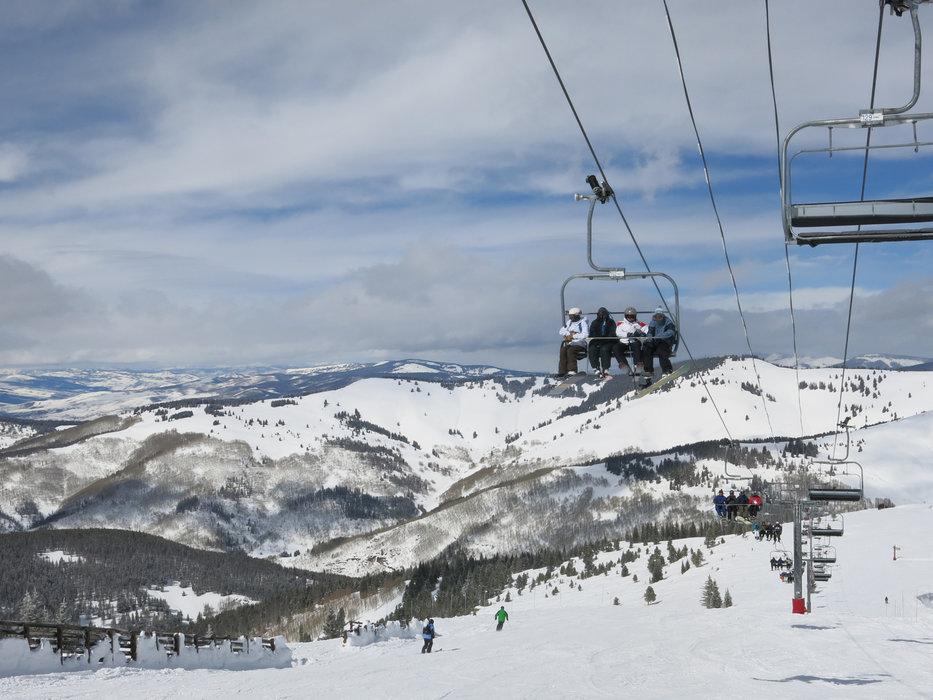 Taking the ski lift in Vail - ©Micaela Romani