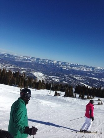 Bluebird and corduroy today at Snowmass. Snow loosened up in the afternoon and was awesome. Get up here!