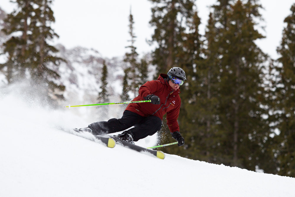 A ski tester getting it done on day 1.  - ©Cody Downard Photography