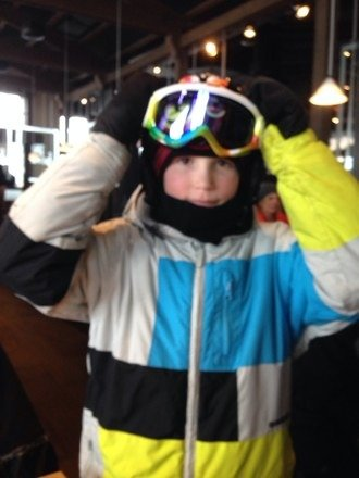 A great day of skiing on breckenridge.  Been snowing all day. Lots of powder.