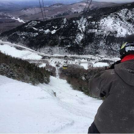 awesome day! tram line and kinsman were unreal. wind kept blowing snow onto these runs. main runs were icy in spots