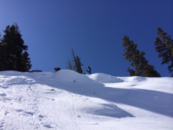 Great conditions today off Spellbound and North Face