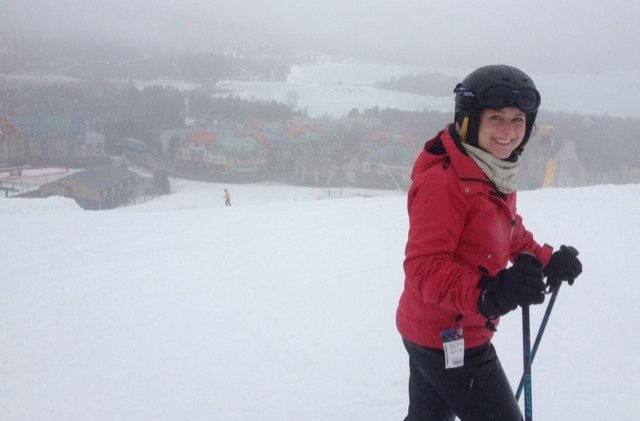 Great day at Tremblant. Ok, miserable rainy conditions but loads of snow, not cold at all. Rain passed and was snow higher up. Resort dead in the week. Skied both sides with zero traffic. Not another soul in sight at times. Loved it