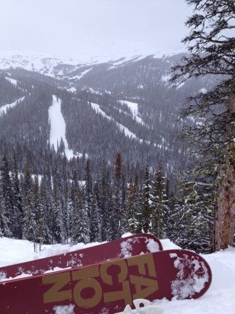 Great skiing and riding today with a powder morning. Goats Eye softened in the afternoon while trails above the village stayed pretty wintery all day. Visibility was variable. Trails in the TP town area were especially good. Ski Sunshine!