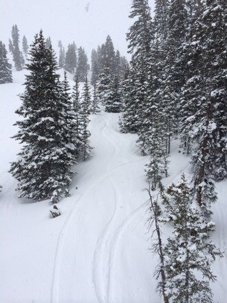 Was able to make fresh tracks from 9am-close! More than 7in on upper half with more snow falling all day.  Epic all time best May Spring ride!