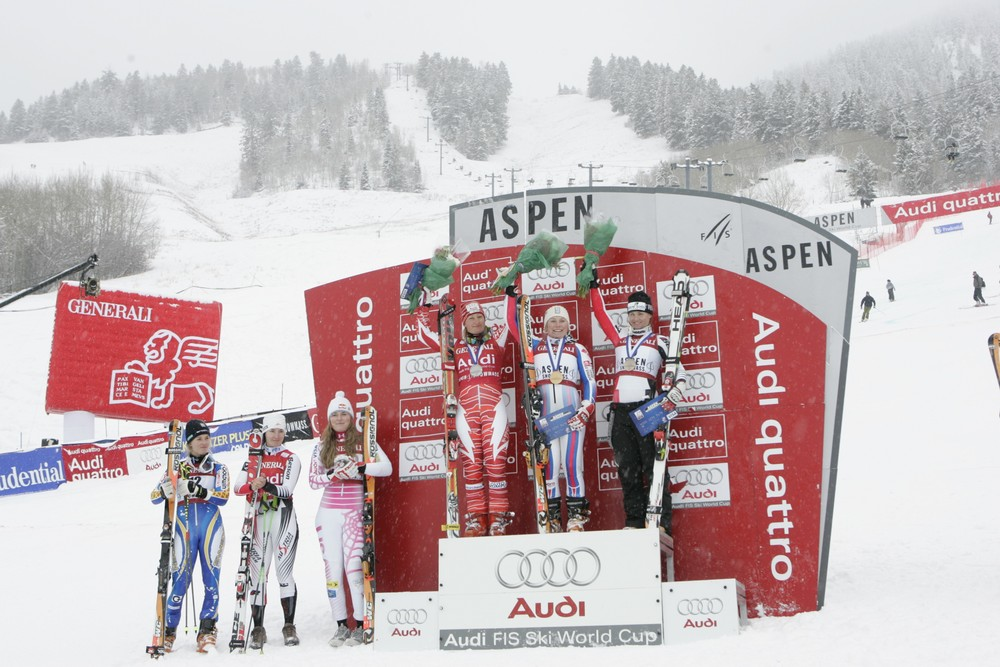 Winners on the podium at the Aspen Winternational.