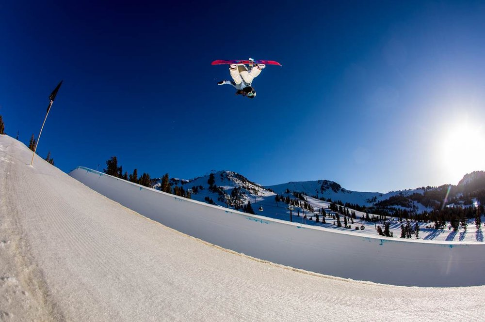 Going big at Mammoth. - ©Peter Morning