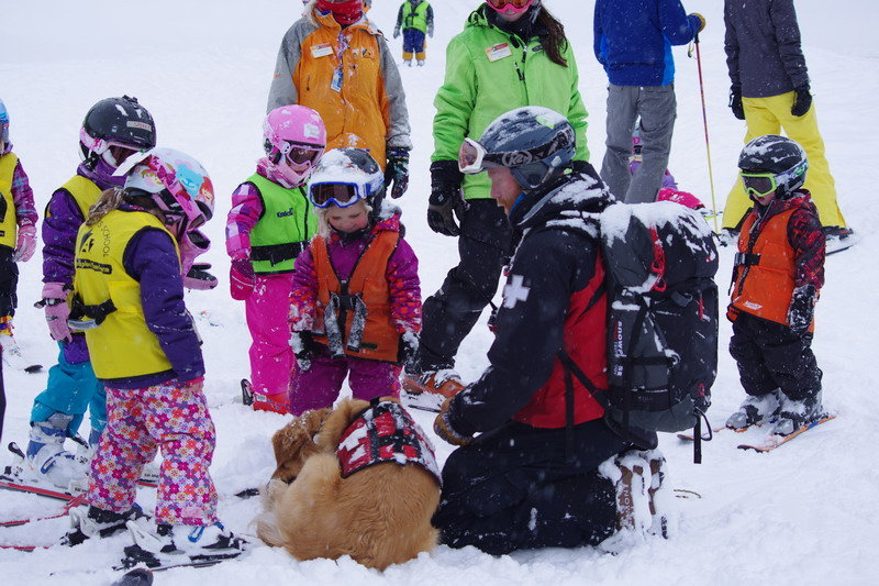 Ski Patrol and Rio introduce themselves. - ©Arapahoe Basin