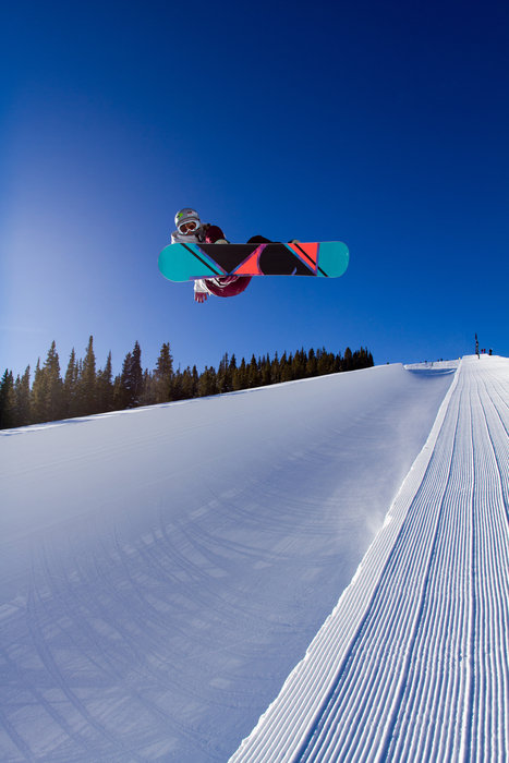 Sailing out of the 22-ft. Breck superpipe