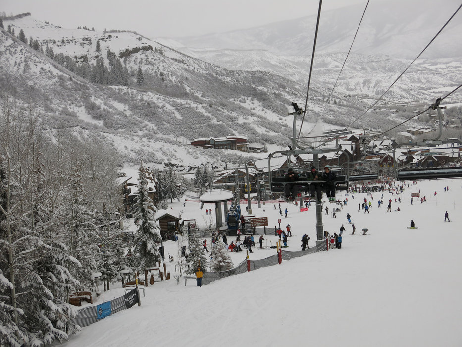 Busy slopes in Snowmass