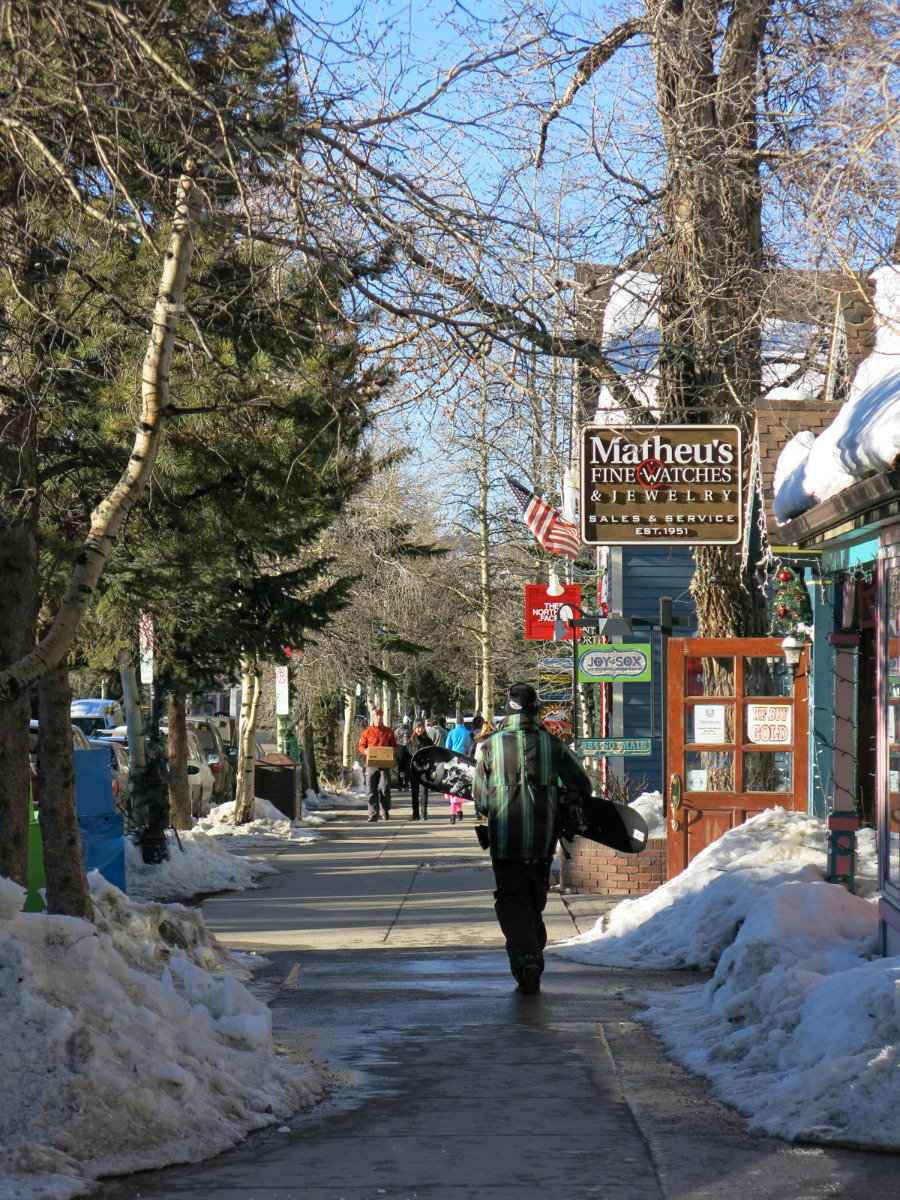 On the go in Breckenridge's town centre