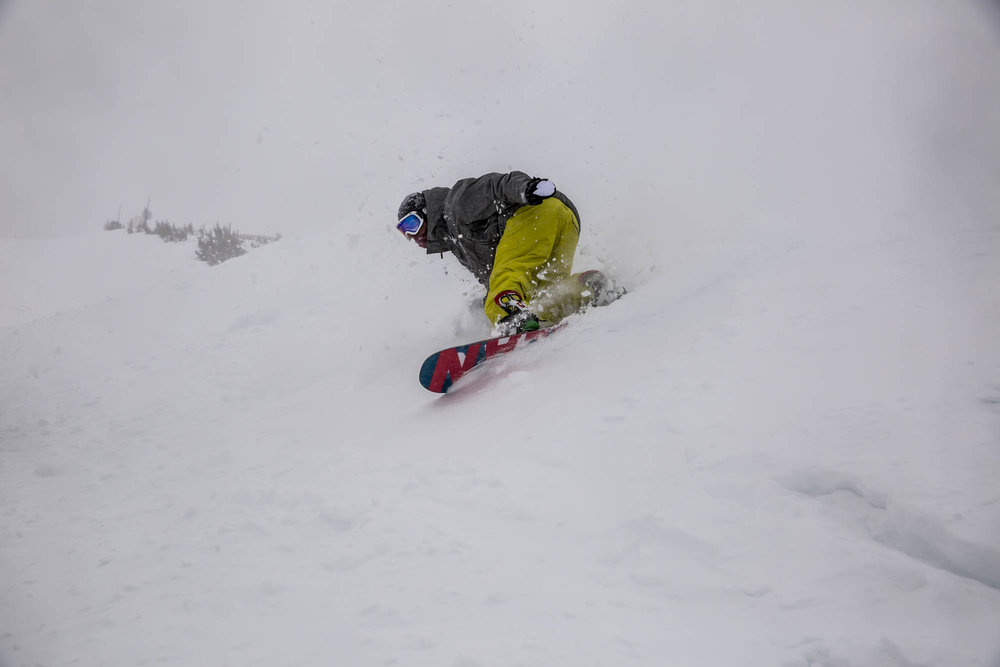 Big turns in big snow.