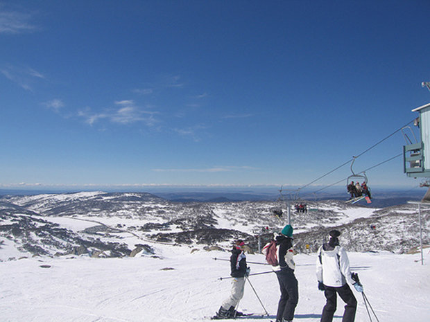 Summer ski resort: Near the top of Mount Perisher, Australia.