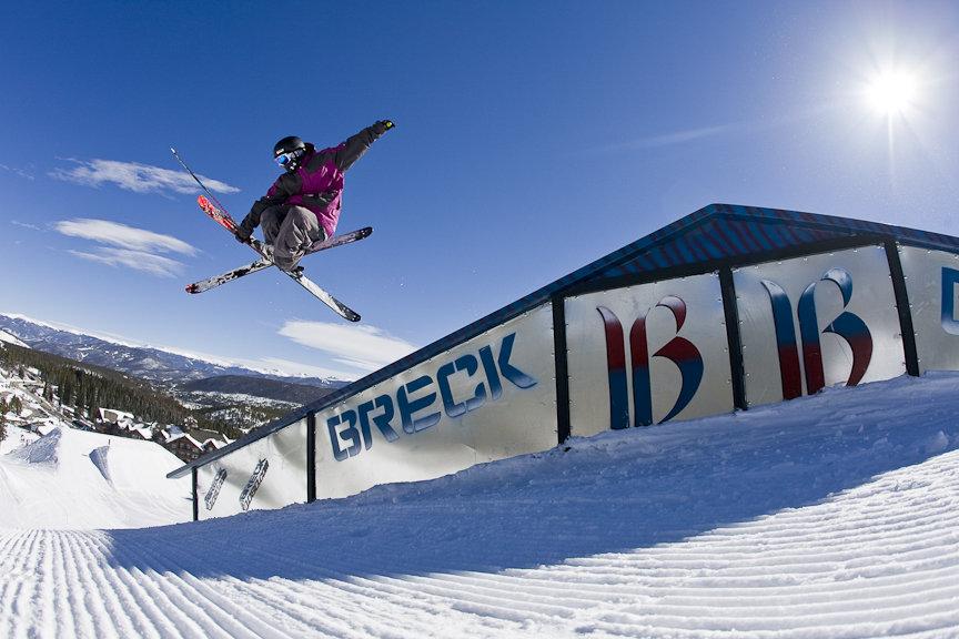 Skier getting stylie at Park Lane, Breck. - ©Breckenridge Ski Resort