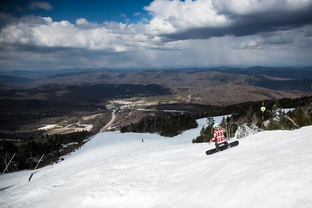 Ride into May on Killington's Superstar trail.