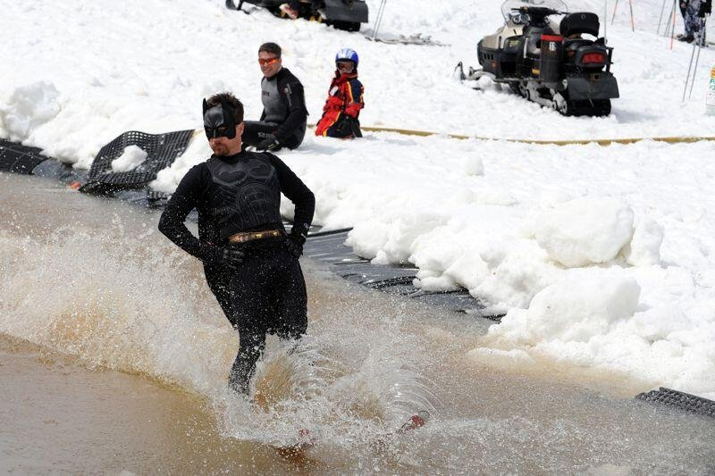 No spring at Wintergreen would be complete without a pond skim.