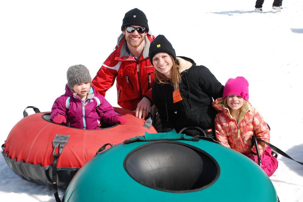 Tubing family fun at Ski Brule.
