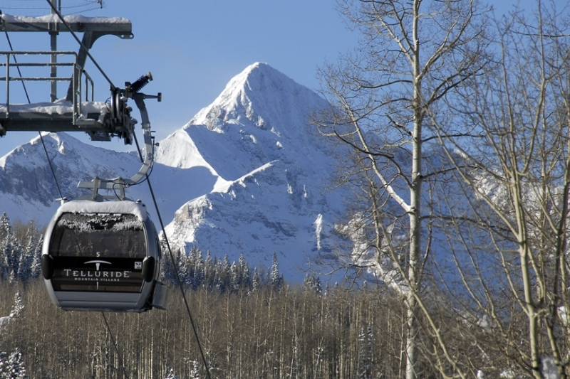 Telluride's gondola with Wilson Peak as backdrop. Alan Cuenca