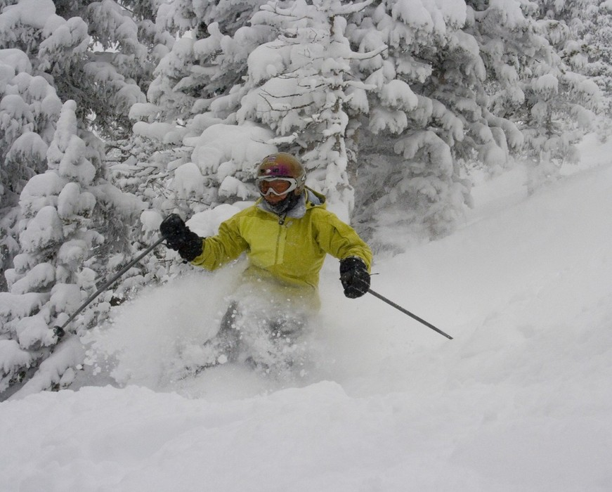 Powder skier at Monarch, CO.