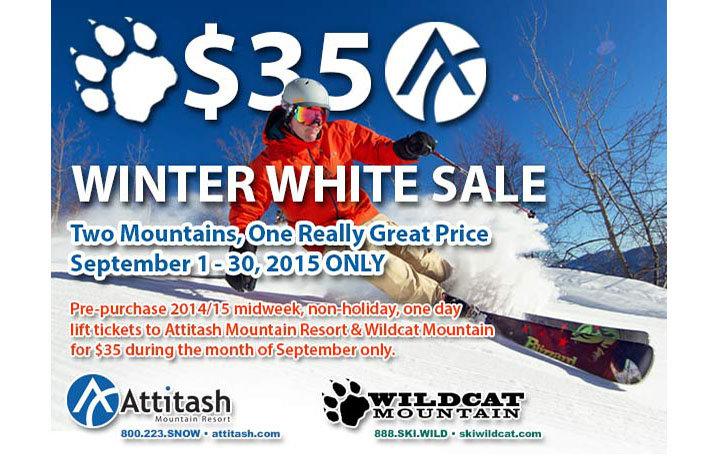 Winter White Sale for September Only - ©Attitash