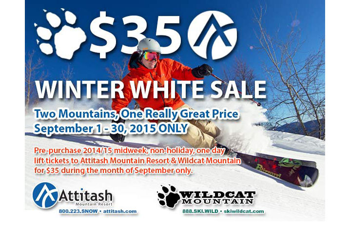 Winter White Sale for September Only - ©Attitash