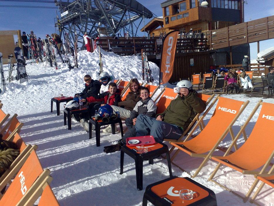 Kicking back - ©Falcky @ Skiinfo Lounge