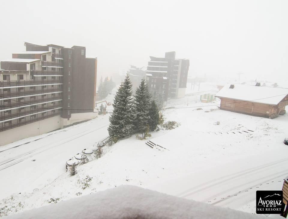 Neve fresca ad Avoriaz 1800 mt, 22 Ottobre 2014 - ©Avoriaz