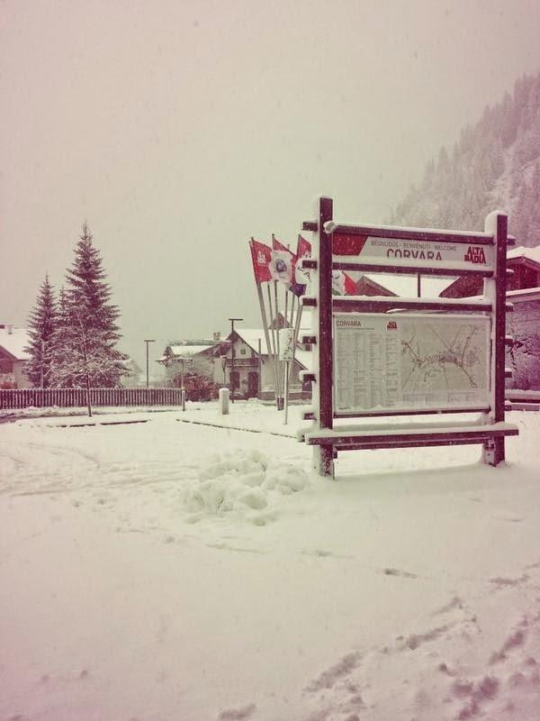 Neve fresca in Alta Badia, 23 Ottobre 2014