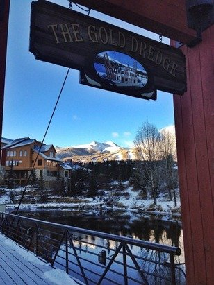 Good amount of snow here in Breckenridge beautiful view also